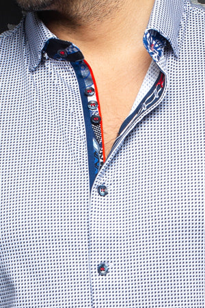 Au Noir Stretch Shirt | Belotti White Blue