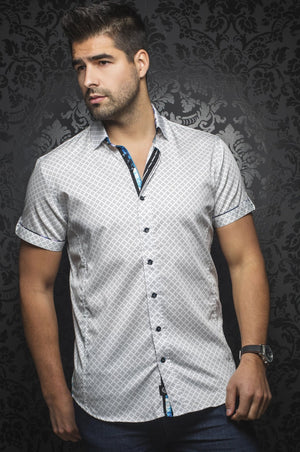 Au Noir White Short-Sleeve Night Out Shirt - BIAGIO (SS) white