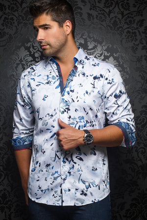 Au Noir White Shirt - Christobal White Blue