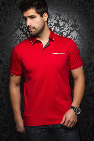 Men Fashion - Au Noir Polo shirt - Freddie Red