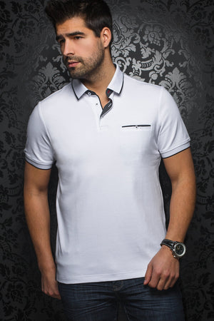 Men Fashion - Au Noir Polo shirt - Freddie White