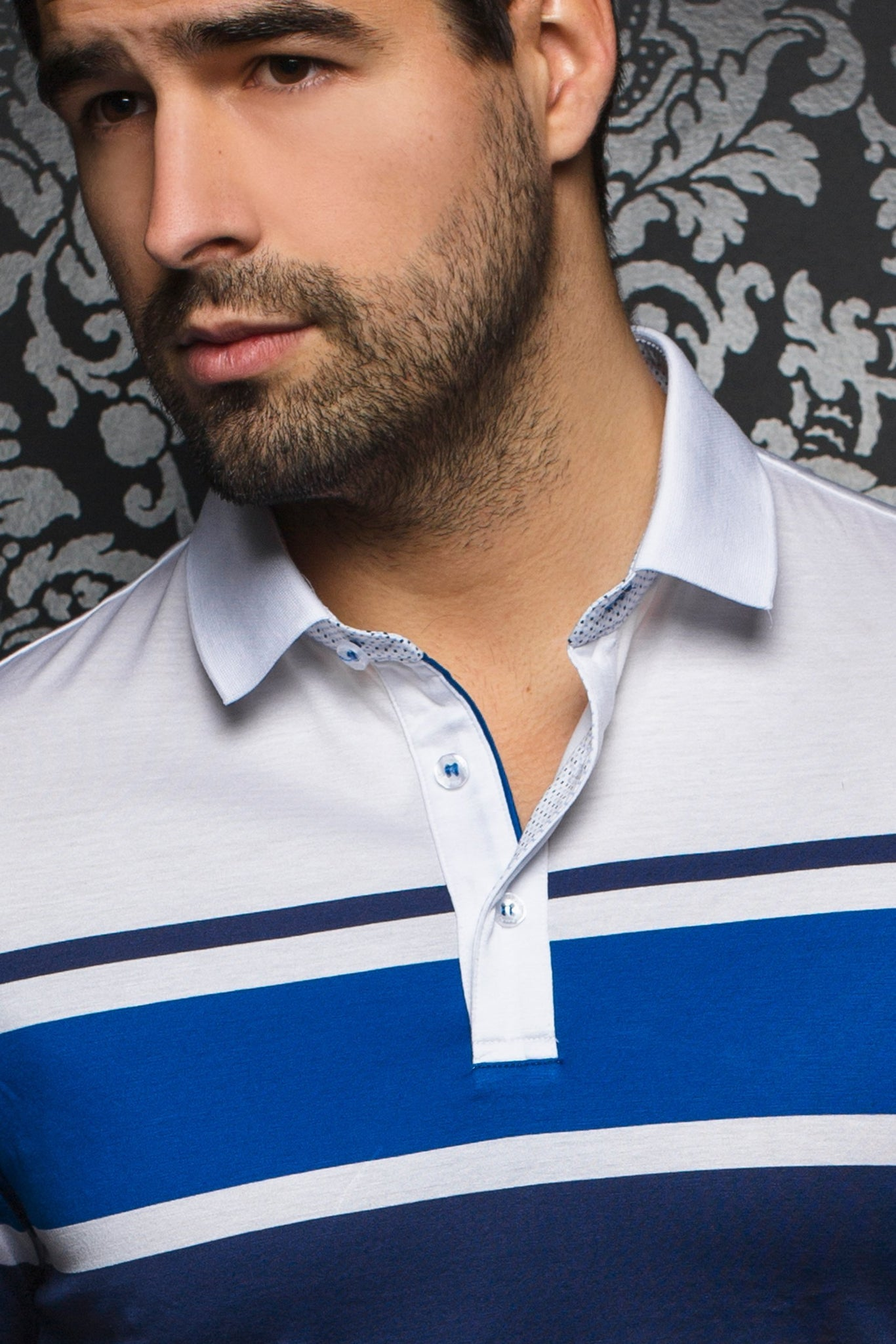 Men Fashion - Au Noir Polo shirt - Giorgio White