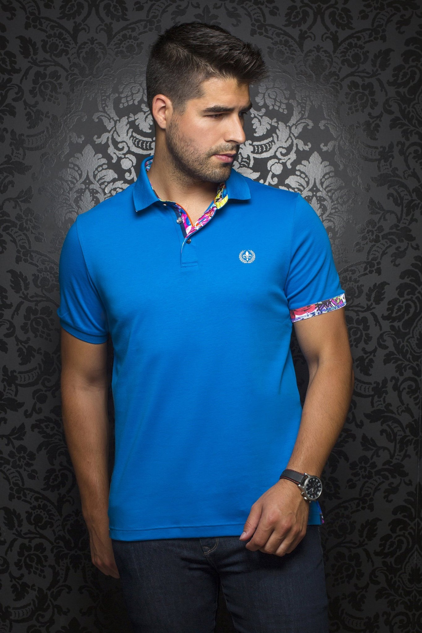 Au Noir Polo shirt - Hawk Blue