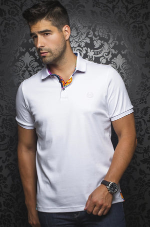 Au Noir Polo shirt - Hawk White