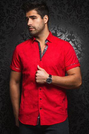 Au Noir Short-Sleeve Shirt | Herrera Red