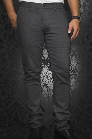 Au Noir Slim Fit Stretch Denim Jean - Grey