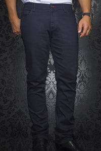 Au Noir Slim Fit Stretch Denim Jean - Navy