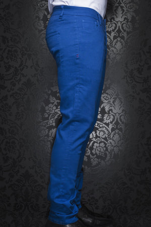 Au Noir Slim Fit Stretch Denim Jean - Royal