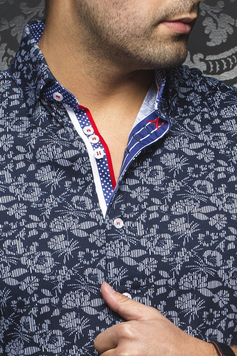 Au Noir Stretch Fit shirt - Kansas Navy