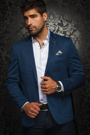 Men Fashion - Au Noir Blazer - Martin Royal Blue
