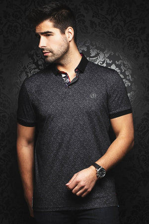 Au Noir Short-Sleeve Polo | Mayfield Black