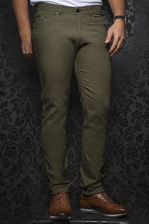 Au Noir Dressy Stretch Pant - Remington Olive