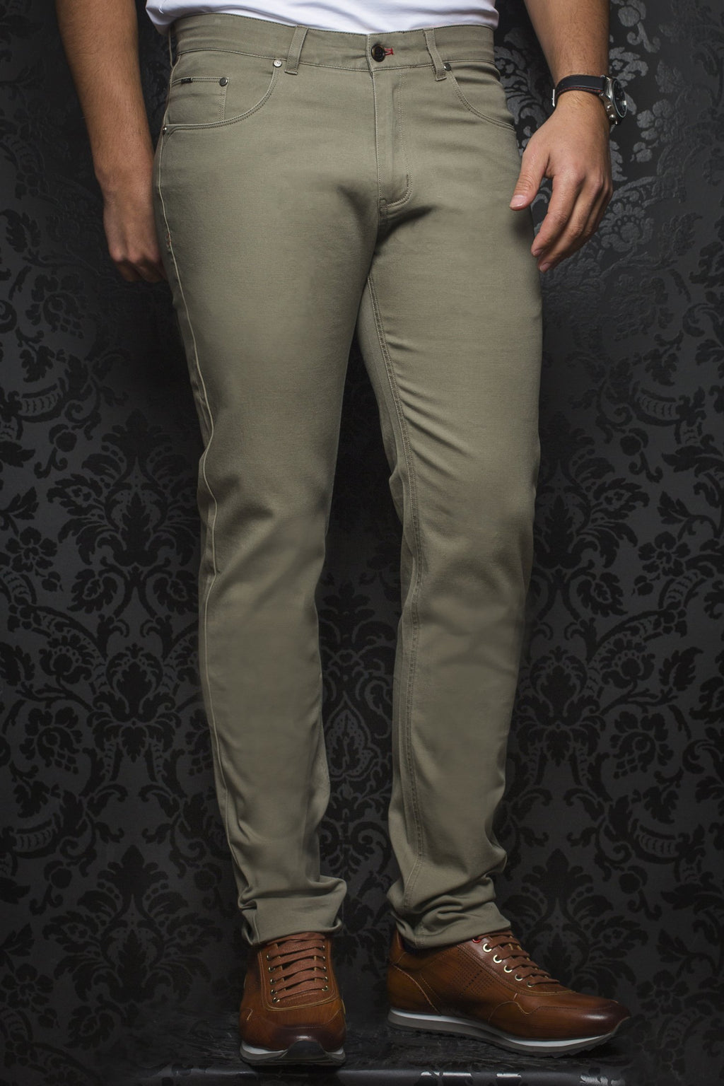 Au Noir Dressy Stretch Pant - Remington Sage