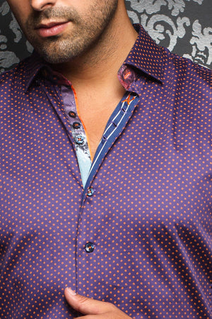 Au Noir Purple Shirt - Segovia Purple
