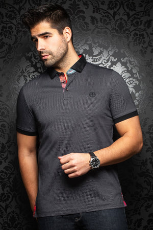 Au Noir Short-Sleeve Polo | Sierra Black