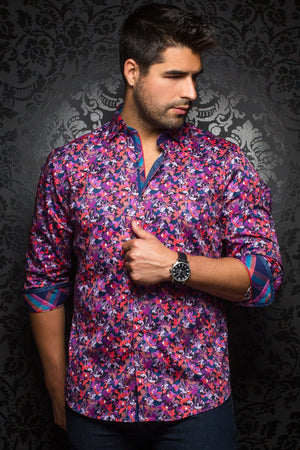 Au Noir Purple Shirt - Tavarone Purple