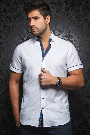 Au Noir Short-Sleeve Shirt | Tomassi Jaqc White