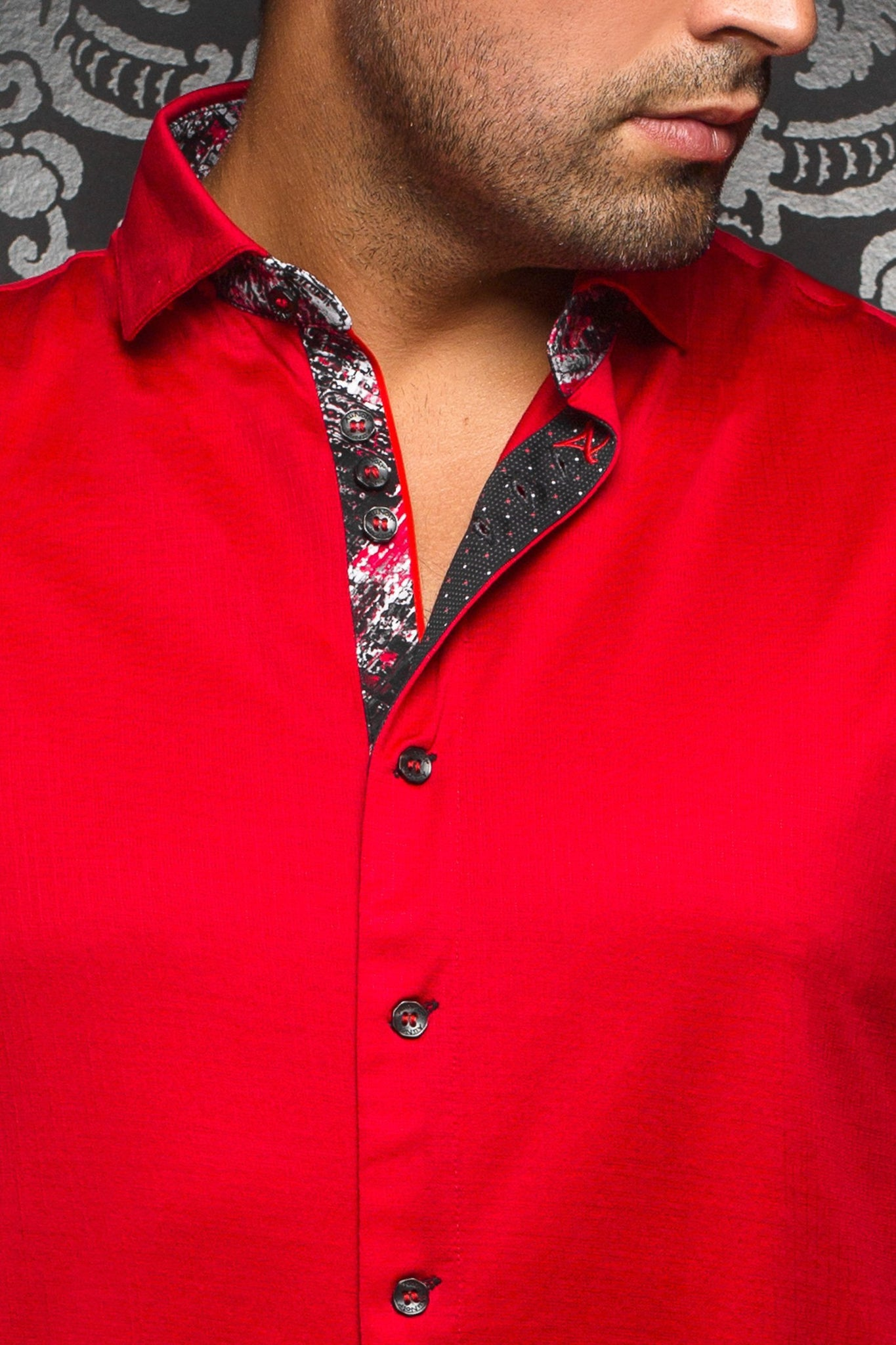 Au Noir Red Stretch Shirt - Vega Red