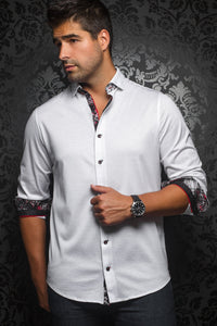Au Noir White Stretch Shirt - Vega White