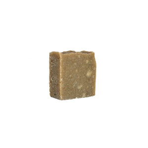 Brown rustic soap square with beige spots