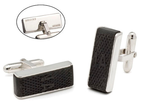Game Used Puck Cufflinks NHL
