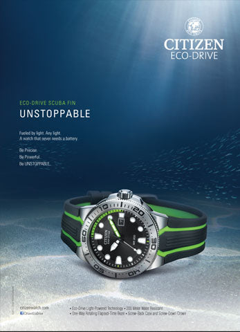 Citizen Eco-Drive Scuba Fin (green)
