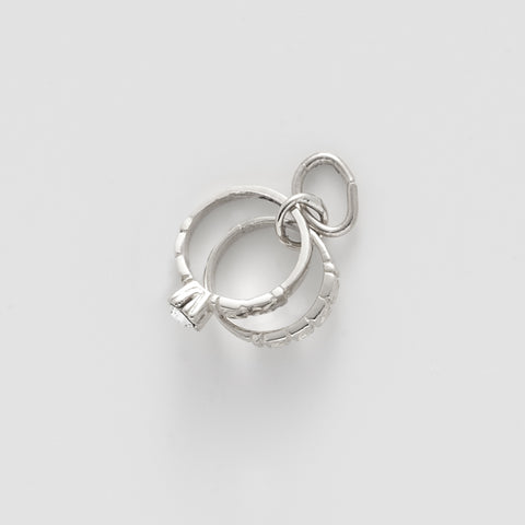 Wedding Ring Sterling Silver Charm: Style #0191