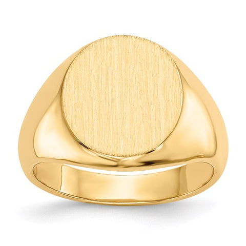 Gold Oval Signet Ring 15.5x13.5