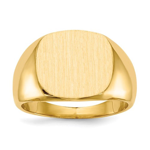 Gold Square Signet Ring 15.5x14