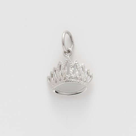 Tiara Sterling Silver Charm: Style #2418
