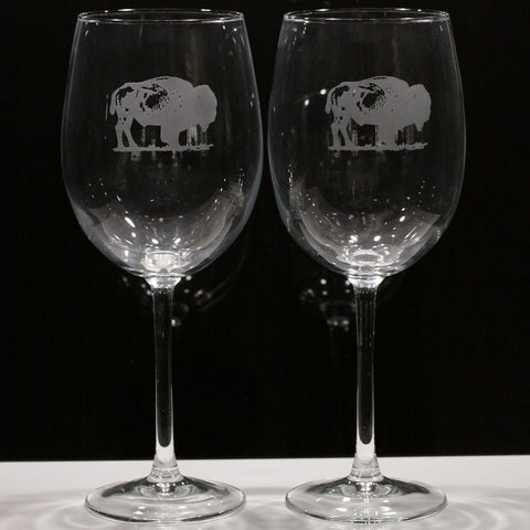 "Buffalo ""Colossal"" Wine Glass (Set of 2)"