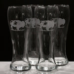 Buffalo Pilsner / Lager Glass (Set of 4)