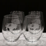 Buffalo Stemless Wine Glasses (Set of 4)