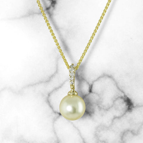 Golden South Sea Pearl Pendant