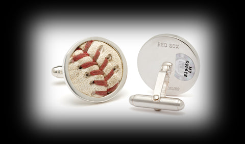 Game Used Baseball Cuff Links