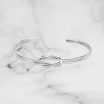 Cuff Bracelet with Double Wire and Knot