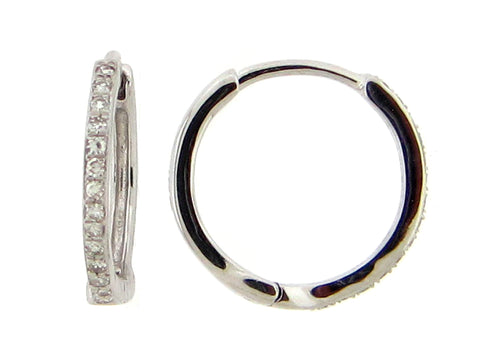Small Diamond Hoop Earring