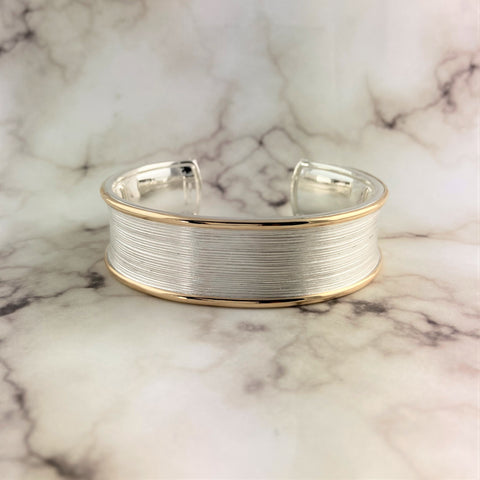Two-Tone Textured Wide Cuff