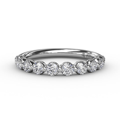 1/2ct Single Prong Set Diamond Band