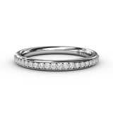 White Gold Prong Set Diamond Band