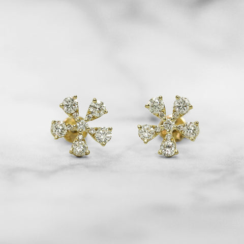 Floral Diamond Earrings