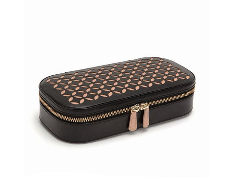 Chloé Zip Jewelry Case (Black and Cream)