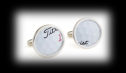 TPC Sawgrass played golf balls Cuff Links