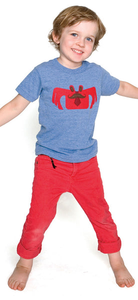 decaf plush crab applique tee