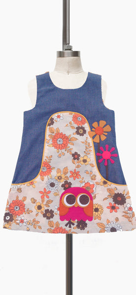 Dandy A-Line Dress - Vintage Floral Owl