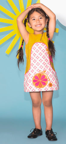 Dandy A-Line Dress - Pink Polka