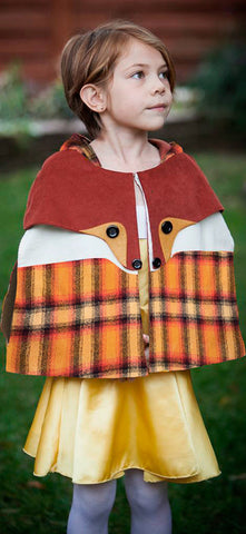 Plaid Flannel Fox Cape