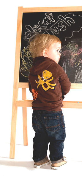 Octopus Applique Fleece Lined Hoodie
