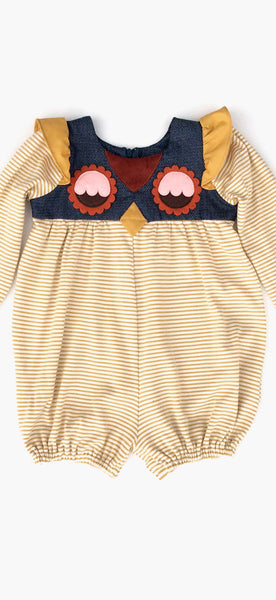 decaf plush Wise Owl Eyes Unisex Infant Bubble Suit