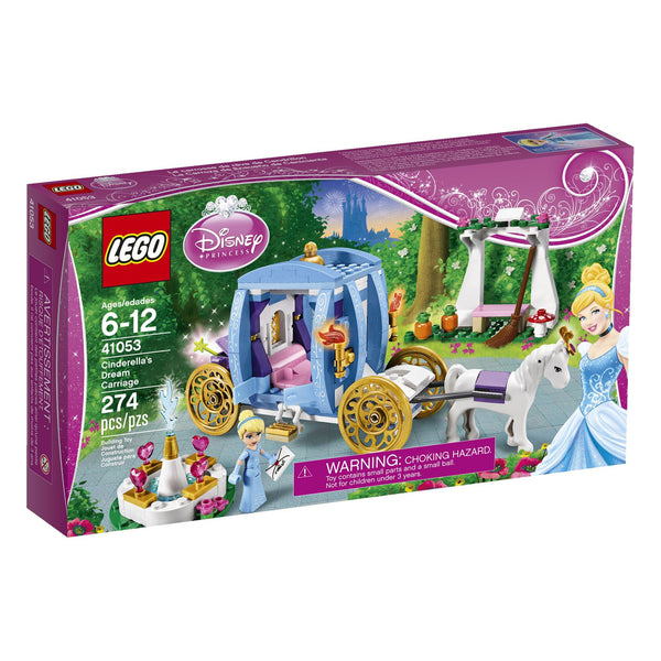 LEGO Disney Princess 41053 Cinderella's Dream Carriage - 274 Pieces - Ages 6 and Up